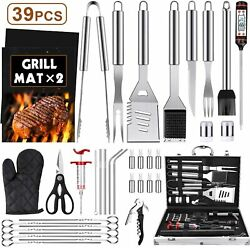 Grill Accessories Kit, 39pcs Griddle Barbecue Tools Set, Outdoor Bbq