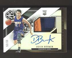 Devin Booker 2015 Panini Limited Rookie Auto Jersey Patch Rc 02/25