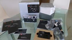Leica M8.2 Camera. Silver Chrome Finish. Boxed And Mint Low Shutter Actuations