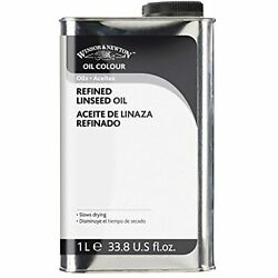 Winsor And Newton Refined Linseed Oil - 1 Liter Tin