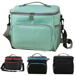 Women Men Thermal Insulated Portable Travel Picnic Box Tote for Kids Lunch Bag $22.29