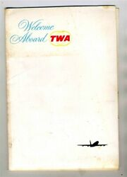 Twa Welcome Aboard Packet With 5 Booklets 1964 Wings For The World