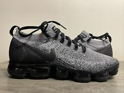 Nike Air Vapormax Flyknit 2 Shoes Size 10.5 942842-107 White Black Cookies Cream