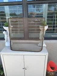 Small Vintage Fireplace Screen 24w X 21h 4.5d