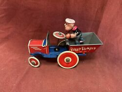 Popeye Dippy Dumper Wind-up Vintage Tin Toy Working - Marx Toys 1930s