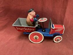 Popeye Mean Man Dippy Dumper Wind-up Vintage Tin Toy Working Marx Toys 1930s