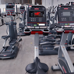 Star Trac Upright Bike Lcd Screen Excellent Shape