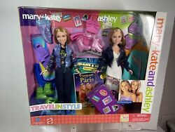 Mary Kate and Ashley Dolls Travel in Style Passport to Paris Set. New in Box $49.99