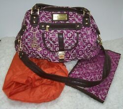 Cocalo Couture Chloe Purple Jacquard Crossbody Diaper Bag w Changing Pad amp; Tote $34.99