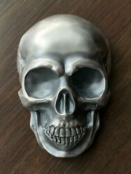 ½ Kilo 16.075 Oz Antiqued Silver Big Skull From Palau / 537 Of Sold Out L.e.