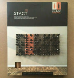 Stact Wine Rack, Wood Modular Wall Hanging System C-type Zebra Finish Cork Out