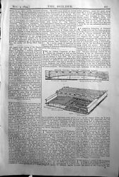 Antique Old Print Banks Patent Hollow Fireprofloor Builder 1894 Architecture