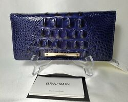 ❤️ Brahmin Ady Wallet In Ink - Navy Blue Gorgeous Color  Htf Nwt ❤️