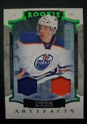 2015-16 Artifacts Emerald 205 Jersey And Patch 175 /199 Connor Mcdavid 🔥🔥🔥