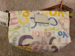 SV Multi Graffiti F42620 Beach Small Purse with Handle COACH New with Tags $50.00