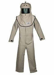 Cat4 Series Arc Flash Hood And Coverall Suit Set - Choose Sz/color