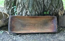 Wood Bowl Old Antique Dough Bowl Rustic Primitive Hand Carved Country Decor
