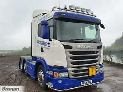 To Fit 09+ Scania P G R 6 Series Sleeper Roof Bar+led Spots+flush Leds+beacons