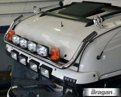 To Fit 2012+ Mercedes Actros Mp4 Classicspace Roof Bar+ Leds+ Led Spotx6+beacons