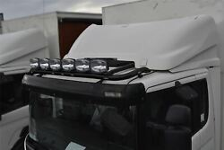 To Fit Scania 4 Series Low Day Cab Black Roof Bar + Jumbo Led Spots + Leds