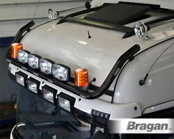 To Fit Scania New Gen Rands 17+ Normal Roof Bar + Jumbo Led Spot+leds+beacon-black