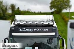 To Fit 06-14 Iveco Daily Medium High Steel Front Roof Bar+jumbo Led Spots+leds
