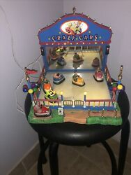 Lemax Carnival 2006 Crazy Cars 64488 Lighted And Animated Circus Bumper Cars Works