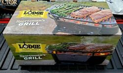 Lodge Sportsman Sportsmanand039s Grill L410 Cast Iron Hibachi-style Factory Sealed