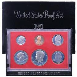 1981 S Proof Set Original Box All 6 Coins Are Type 2 Us Mint