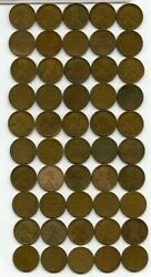 Coin Roll 1913-s Lincoln Wheat Cent Pennies Penny Lot Roll Set Collection Ry439
