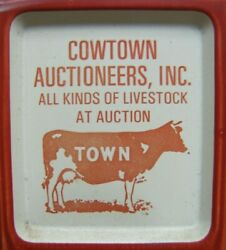 Cowtown Auctioneers Salem County Nj Advertising Thermometer Sign Livestock Usa
