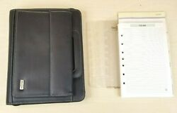 Franklin Covey Classic Day One Zip Planner Binder Faux Leather 7 Rings 1 Extras