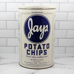 Jays Potato Chip Metal Can 1986 Limited Edition Canister With Lid