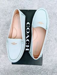 Coach Women#x27;s Marley Light Teal Leather Loafer Size 7.5 B $105.00