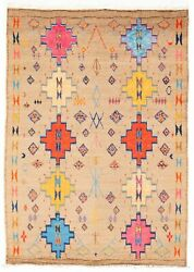 Vintage Hand-knotted Carpet 8'10 X 12'3 Traditional Geometric Wool Area Rug