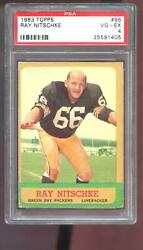 1963 Topps 96 Ray Nitschke Rookie Rc Psa 4 Graded Football Card Packers