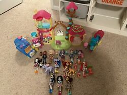 Enchantimals Lot Ice Cream Truck Western Carriage House And Dolls