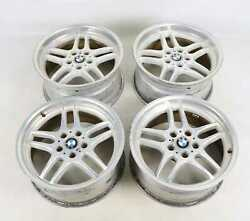 Bmw E38 Factory 18 M Parallel Sport Wheels Staggered Forged Alloy Set 740il Oem