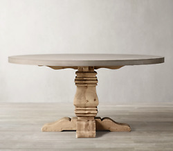 Restoration Hardware And039salvaged Wood And Concrete Trestleand039 Round Dining Table