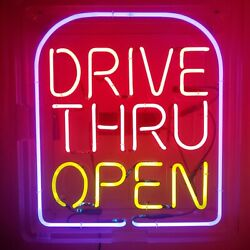 Vintage Ghn Neon Inc. Taco Bell Drive Thru Open Neon Sign 28 Wide 31 Tall