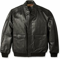Excelled Menand039s Big And Tall Leather Flight Jacket - Choose Sz/color