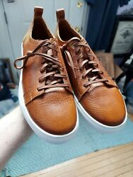 Nwob Luxe De Leon Sergio Walnut Tan Burnished Leather Luxury Sneakers Menand039s 11
