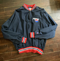 🚨vintage Pepsi Retro Russell Athletic Pullover Windbreaker Jacket Menand039s L/g/g