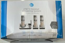 Atandt Cl82357 3 Handset Answering System- New