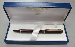 Waterman Centurion Ballpoint Pen Red Marble And Gold Click New In Box