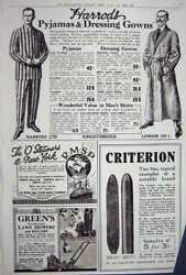 Old Vintage Print Advertisement 1922 Harrods Lawn Mowers Criterion Store 20th