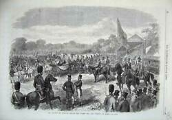 Old Antique Print 1869 Review Windsor Queen Viceroy Egypt Fine Art Horses 19th