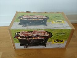 Lodge Cast Iron Sportsmanand039s Grill - Sealed Nib.