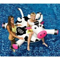 Cow Inflatable Ride On Pool Toy Floating for Ages 3