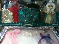 Two Royal Fantasy Designer Gown 8 Outfits Accessories 11.5 Dolls Fits Barbie